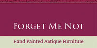 Forget Me Not Hand painted antique furniture
